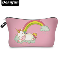 Deanfun Fashion Brand Unicorn Cosmetic Bags 2017 New Fashion 3D Printed Women Travel Makeup Case H87