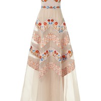 Almond Mix Strapless Valencia Gown | Temperley London | Avenue32
