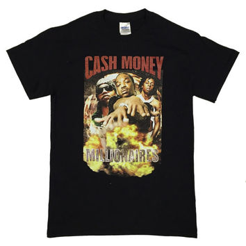 Custom Cash Money millionaries  Vintage Classic 90s Hip Hop T-shirt