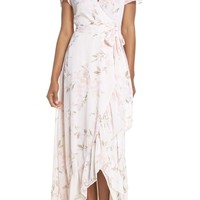 WAYF The Natasha Floral Wrap Maxi Dress | Nordstrom