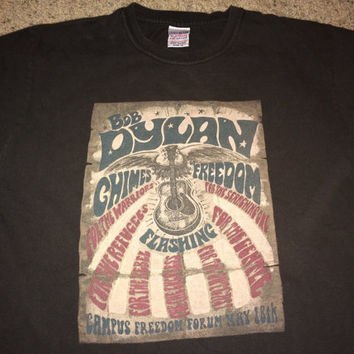 Sale!! Vintage BOB DYLAN casual T shirt music band Lucky brand tee Made in USA