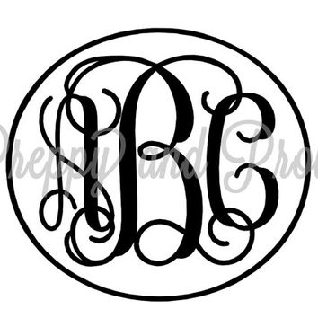 Monogram Decal, Laptop Decal, Monogrammed Sticker, Yeti Decal, Car Decal, Monogram Sticker, Phone Decal, Swell Decal