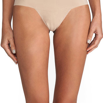 Hanky Panky 'Godive' High Rise Thong in Taupe