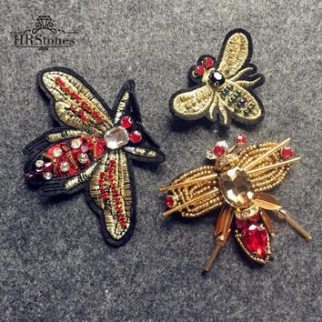 Heavy Industries Beads Small Insects Dragonfly Butterfly Ornaments Making Brooch Material Clothes DIY Accessories Patch