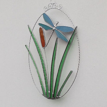 Dragonfly Stained Glass Suncatcher, Stained Glass Dragonfly