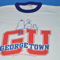 70s Snoopy Georgetown University Blue Bar Champion t-shirt Youth Small