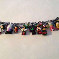 Disney Villains Charm Bracelet by CaitsCutzieCharms on Etsy