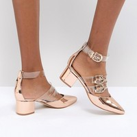 RAID Carmel Rose Gold Metallic Heel Shoes at asos.com
