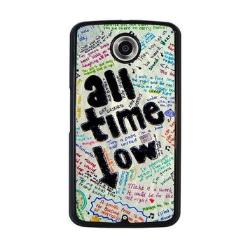 all time low colour nexus 6 case cover  number 1