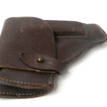 Vintage holster for TT Tula Tokarev pistol, officer's holster is made of genuine leather, military holster, gun holster, holster belt
