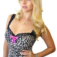 Women's Dolly Leopard Pinup Top