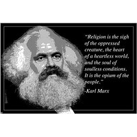 """""""religion opium of the people"""" KARL MARX motivational quote poster 24X36"""