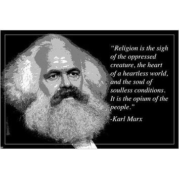 """religion opium of the people"" KARL MARX motivational quote poster 24X36"