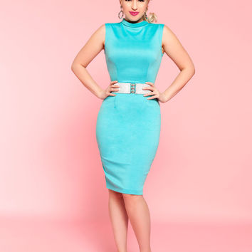 Betty and Veronica by Pinup Couture - Rian Dress in Tiffany Blue