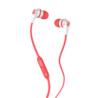 Skullcandy Riot Ink'd Mic'd Earbuds White/Coral One Size For Men 22651431301