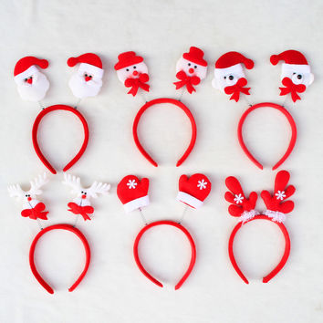 Hot sell Christmas decorations Santa Claus Fawn headband head buckle Christmas party Headwear——Christmas Gift
