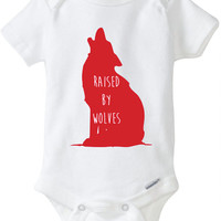 Raised by wolves baby Onesuit Cute baby Onesuit Unisex