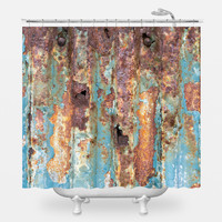Rusted Metal Shower Curtain