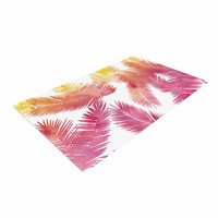 """Draper """"Tropic Love"""" Pink Abstract Woven Area Rug"""