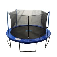 Upper Bounce 10-ft. Round 4-Pole / 2-Arch Trampoline Enclosure Safety Net (Black)