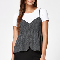 Kendall and Kylie Dot Print Hook-And-Eye Cami Tank Top at PacSun.com