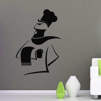 Wall Decals Vinyl Decal Sticker Art Mural Kitchen Cafe Decor Chef Cooking Kj439