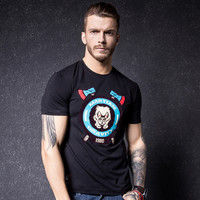 Print Short Sleeve Summer Men Stylish Fashion Round-neck T-shirts [10488644099]