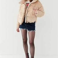 Light Before Dark Teddy Puffer Jacket | Urban Outfitters