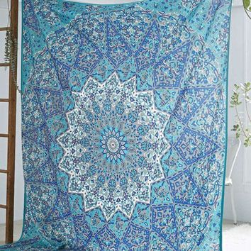 ESBU3C New Hippie Round Mandala Tapestry Indian Wall Hanging Beach Throw Towel Mat