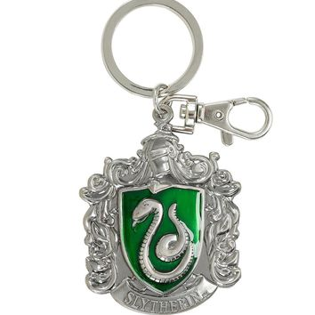 Licensed cool Harry Potter Slytherin House Crest Snake Metal Keychain Key Ring Key Chain NEW
