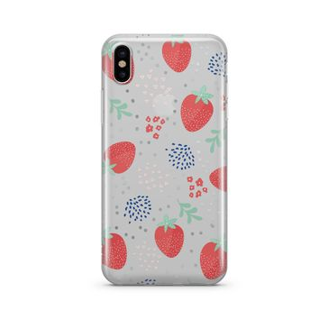 Summer Berry - Clear TPU Case Cover