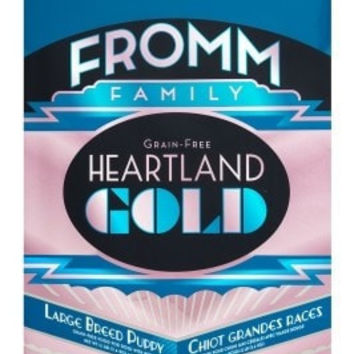 FROMM DOG DRY - HEARTLAND GOLD GRAIN FREE LARGE BREED PUPPY - 4LB - FROMM PET FOODS - UPC: 72705104376 - DEPT: FROMM PET FOOD
