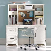 Hampton Smart Desk Hutch, Simply White