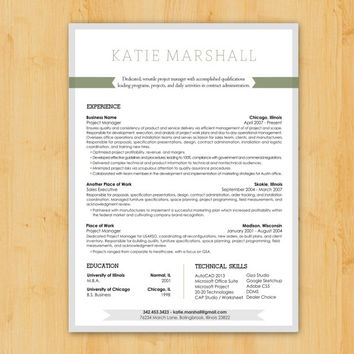 Resume Writing / Resume Design: Custom Resume Writing U0026 Design Service    Minimalist, Modern  Resume Design Service