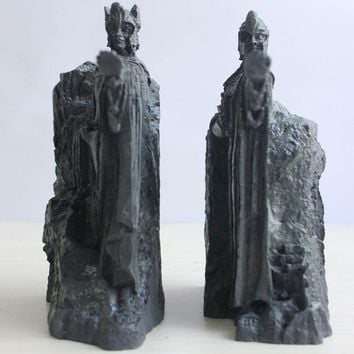 Home Decoration Accessories The Lord of the Rings Hobbit Third Gate of Gondor Argonath Resin Statue Bookends Anime Fans Gift