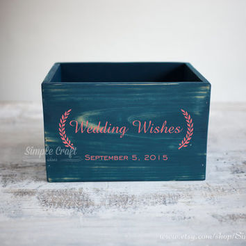 Wood box recipe cards bridal shower baby shower invitation wedding wishes cards advice box bridal shower advice advice cards for baby shower