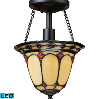 ELK Diamond Ring 1-Light Semi Flush In Burnished Copper - LED - 70089-1-LED