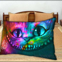 """Alice in Wonderland Were All Mad Here Nebula - 20 """" x 30 """" inch,Pillow Case and Pillow Cover."""