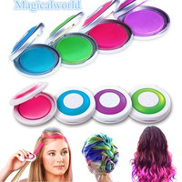 4pcs Huez Hair Chalk Powder Fashion Christmas DIY Temporary Wash-Out Fashion = 5658564481