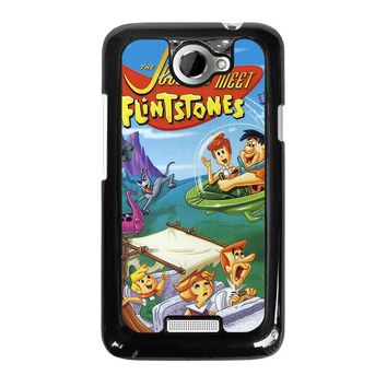 JETSONS MEET FLINTSTONES  HTC One X Case Cover