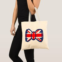 Fun Union Jack Bow Tie Art Tote Bag