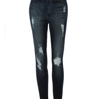 LE3NO Womens Vintage Distressed Skinny Denim Jeans Pants (CLEARANCE)