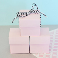 Favor Boxes Pink - Wedding Favors Birthday Party Favor Mini Box - DIY Wedding Bridal Shower Baby Shower Supplies