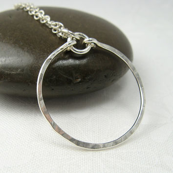 Meridian Silver Pendant Necklace