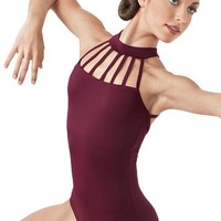Strappy Neck Halter Leotard - Balera