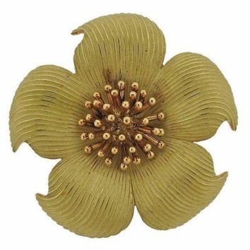 Tiffany & Co. Classic Wild Rose Gold Brooch Pin