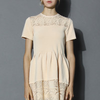 Delicate Sunflower Embossed Knitted Dress Yellow