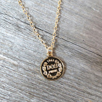 Men's Necklace - Men's Coin Necklace - Men's Gold Necklace - Mens Jewelry - Necklaces For Men - Jewelry For Men - Gift for Him