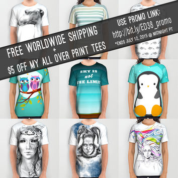 FREE Shipping + $5 OFF All Over Print Tees! by eDrawings38 | Society6