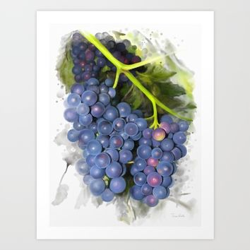 Concord grape Art Print by IvanaW